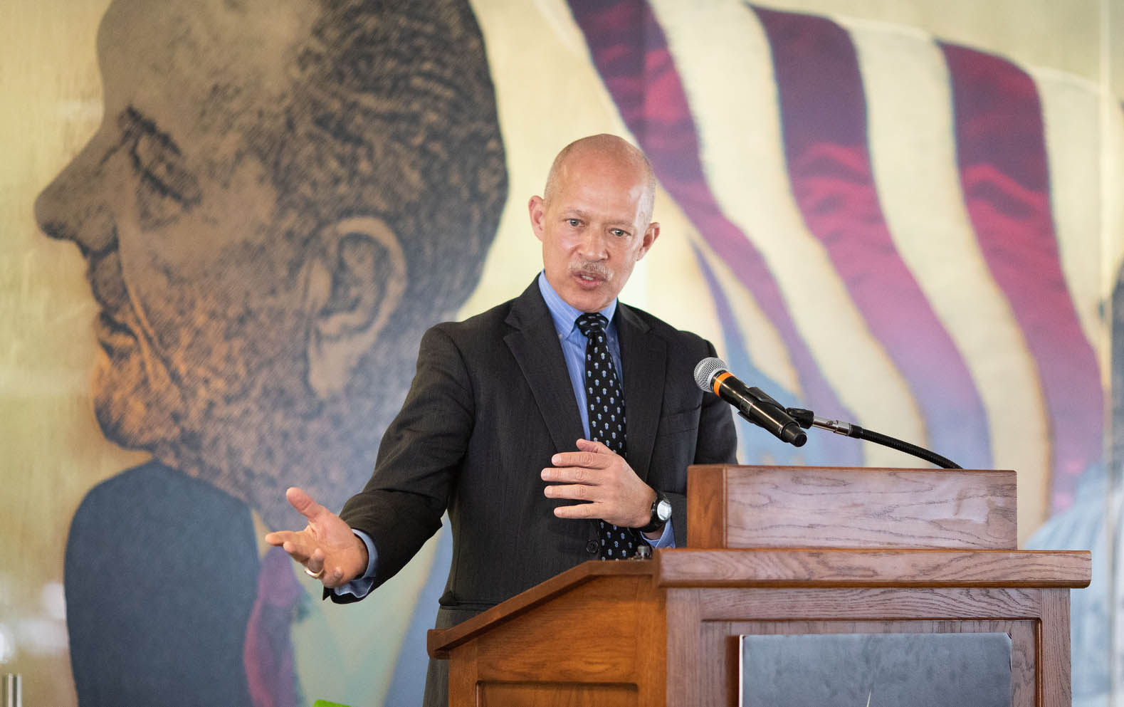 Dallas County DA John Creuzot speaks at the 2019 BJNF