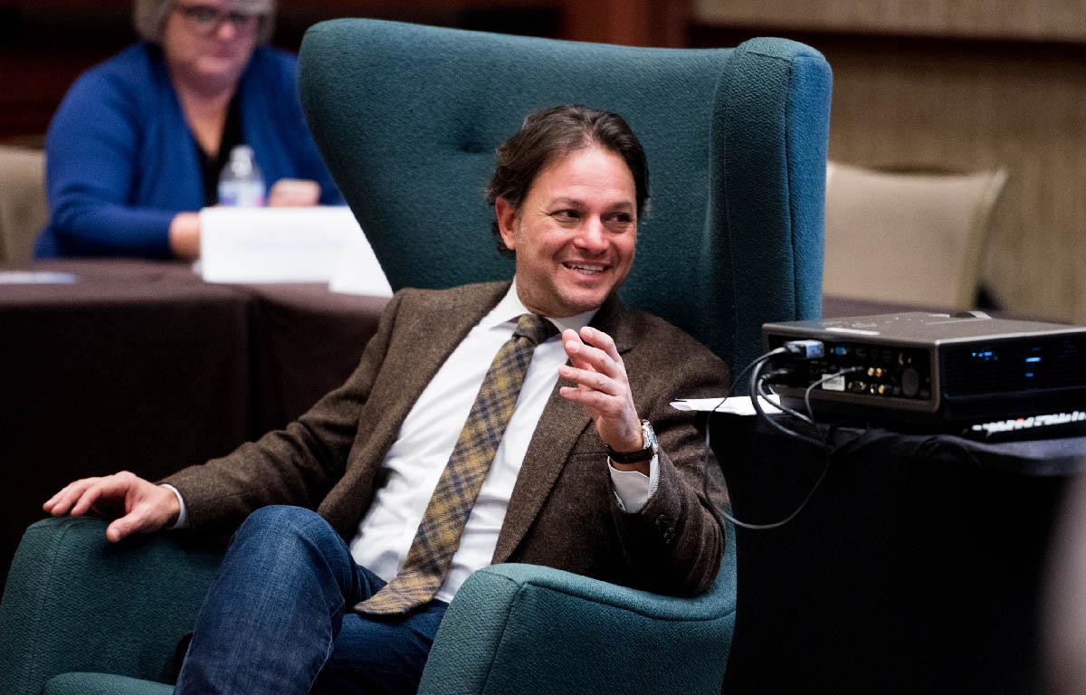 LBJ Professor and RGK Center Director David Springer during a presentation at the 2018 ARNOVA Conference in Austin Nov. 15-17.