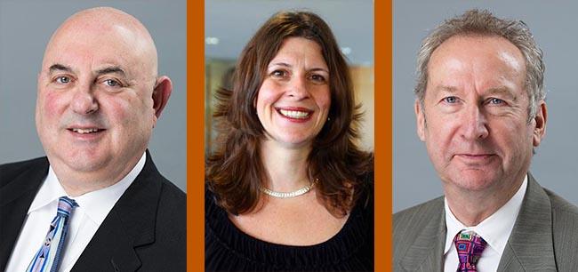 LBJ School Professors David Eaton, Jenny Knowles Morrison and Peter Ward