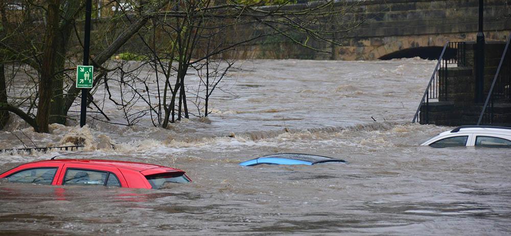 Flooding in Bingley, Bradford UK, in 2015. Credit: Chris Gallagher, Unsplash