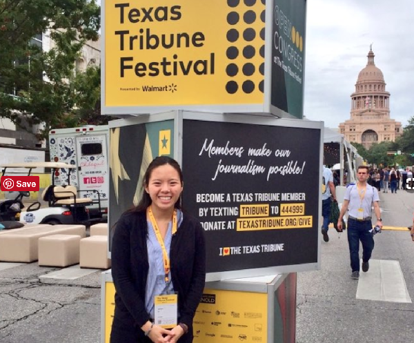 LBJ Student Jaclyn Lee at the 2018 Texas Tribune Festival