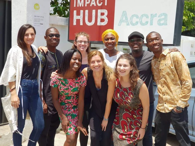 The Health Innovation Program team in Ghana
