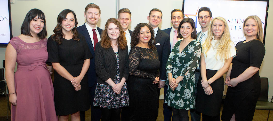 The LBJ DC Fellows class of 2018 at their commencement on Dec. 8, 2018