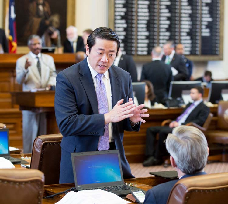 LBJ School alumnus and Texas Representative Gene Wu at the Texas Legislature