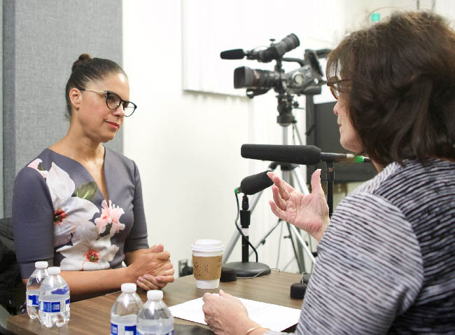 Journalist Soledad O'Brien joins LBJ School Dean Angela Evans on the Policy on Purpose podcast