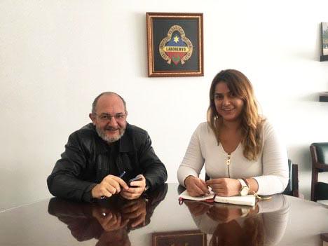 Luisa Alejandra Tello with Alejandro Alvarez