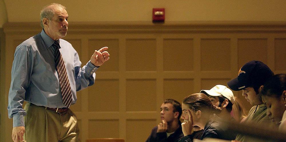 LBJ's Uri Triesman teaching a group of UT students