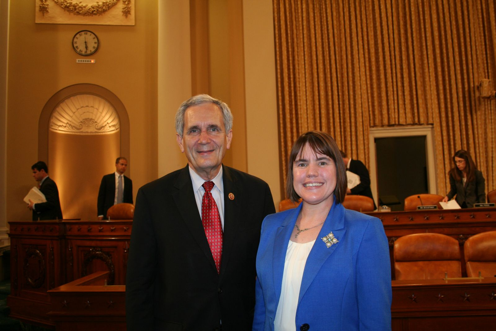 Congressman Lloyd Doggett (D-TX) and Tara Smith