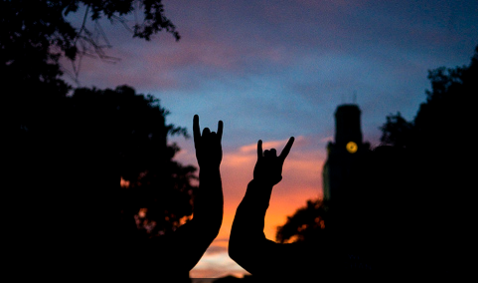 Tower sunset hook 'em