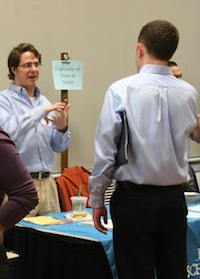 Alumni at APSIA career fair