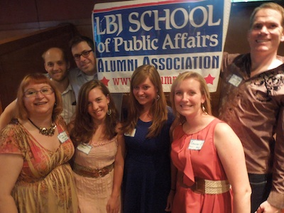 Photo of Austin Alumni Chapter with Kelly Stefen