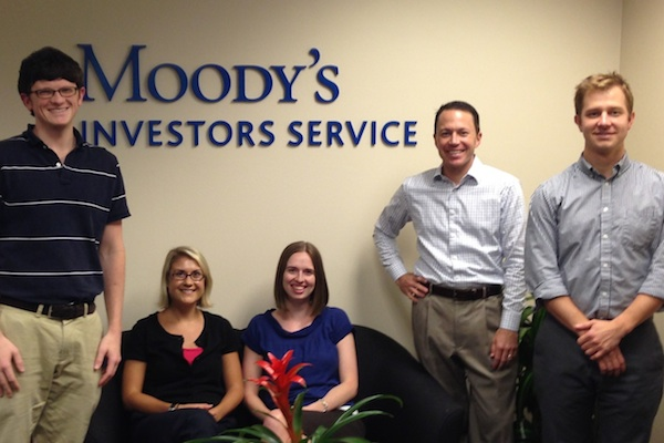 Photo of LBJ Alumni at Moody's