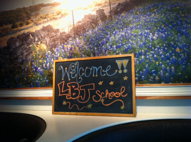 Hill Country BBQ welcome sign