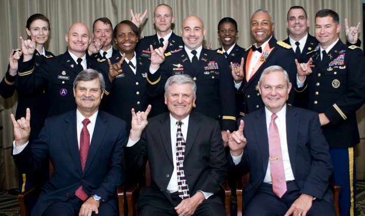2013 Army War College graduates with Dean Hutchings.