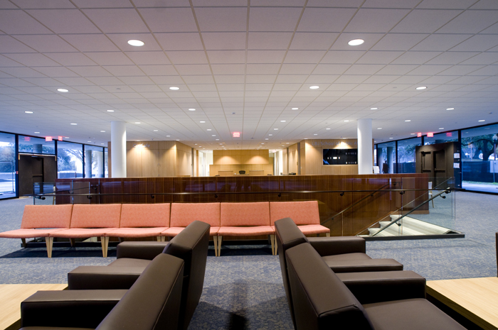 LBJ School of Public Affairs new building lobby