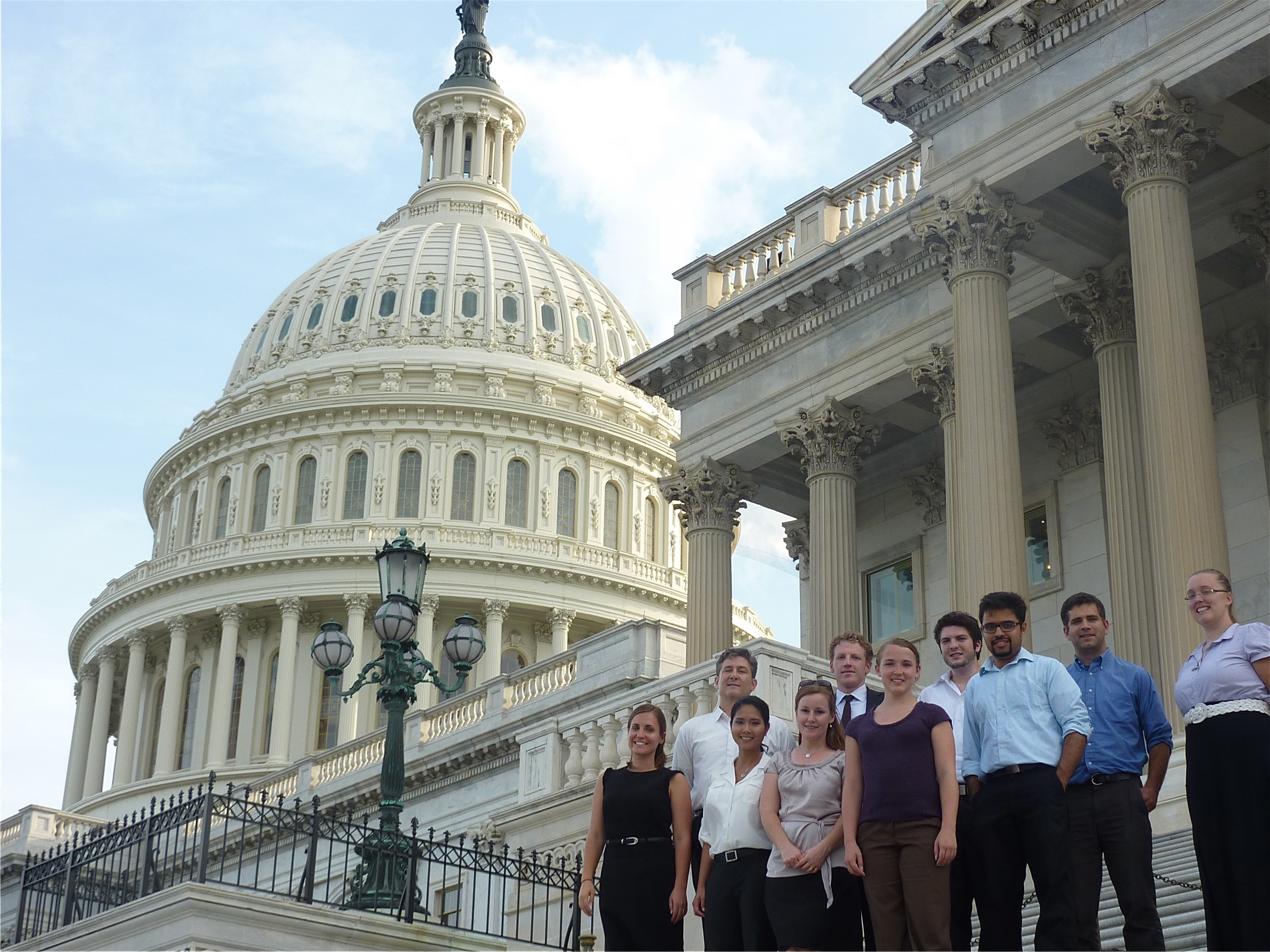 Professor Kate Weaver's class visits the nation's capitol building