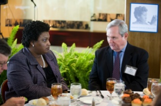 Stacey Abrams and Dean Robert Hutchings