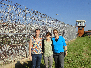 Deitch and students on a field visit to a county jail