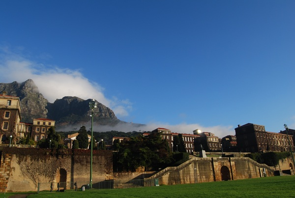 The upper campus of the University of cap Town with Devil's Peak in the background.