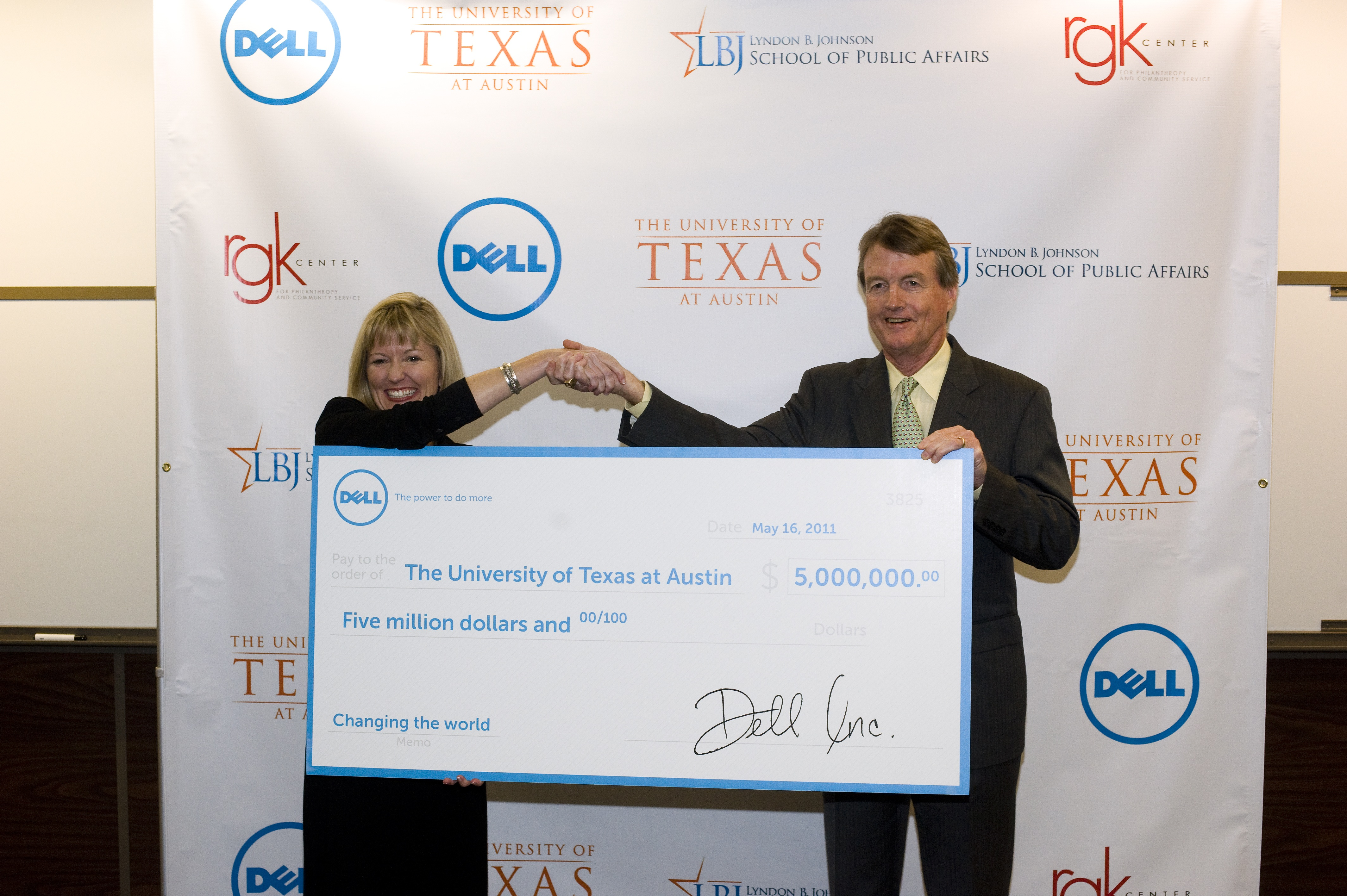 Karen Quintos, CMO, Dell and President William Powers