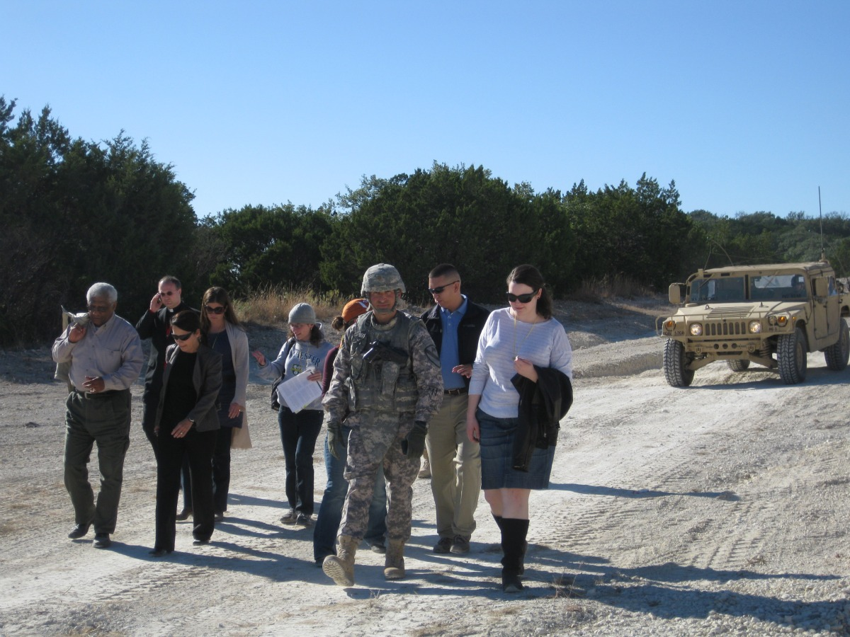 Dorn and Students visit Fort Hood