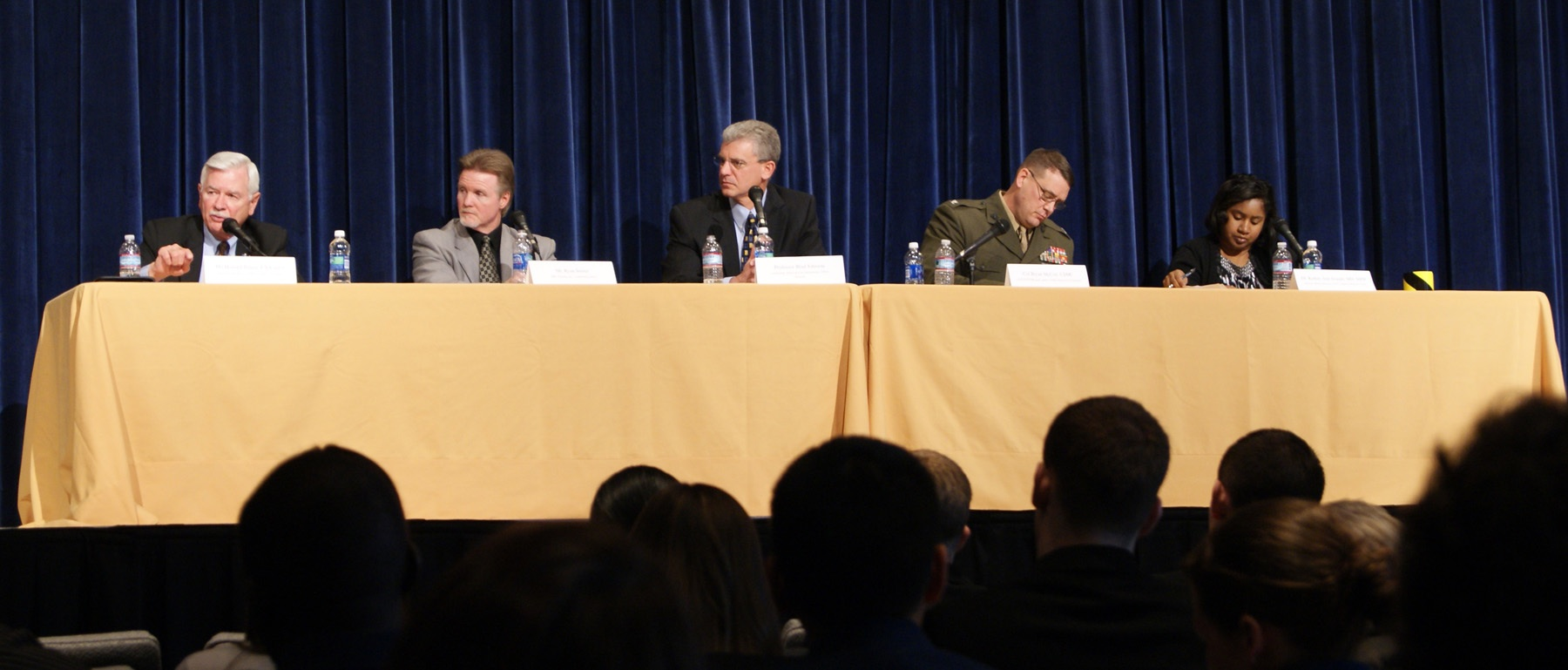 Dr. Howard Prince participates in US Naval Academy leadership conference panel.