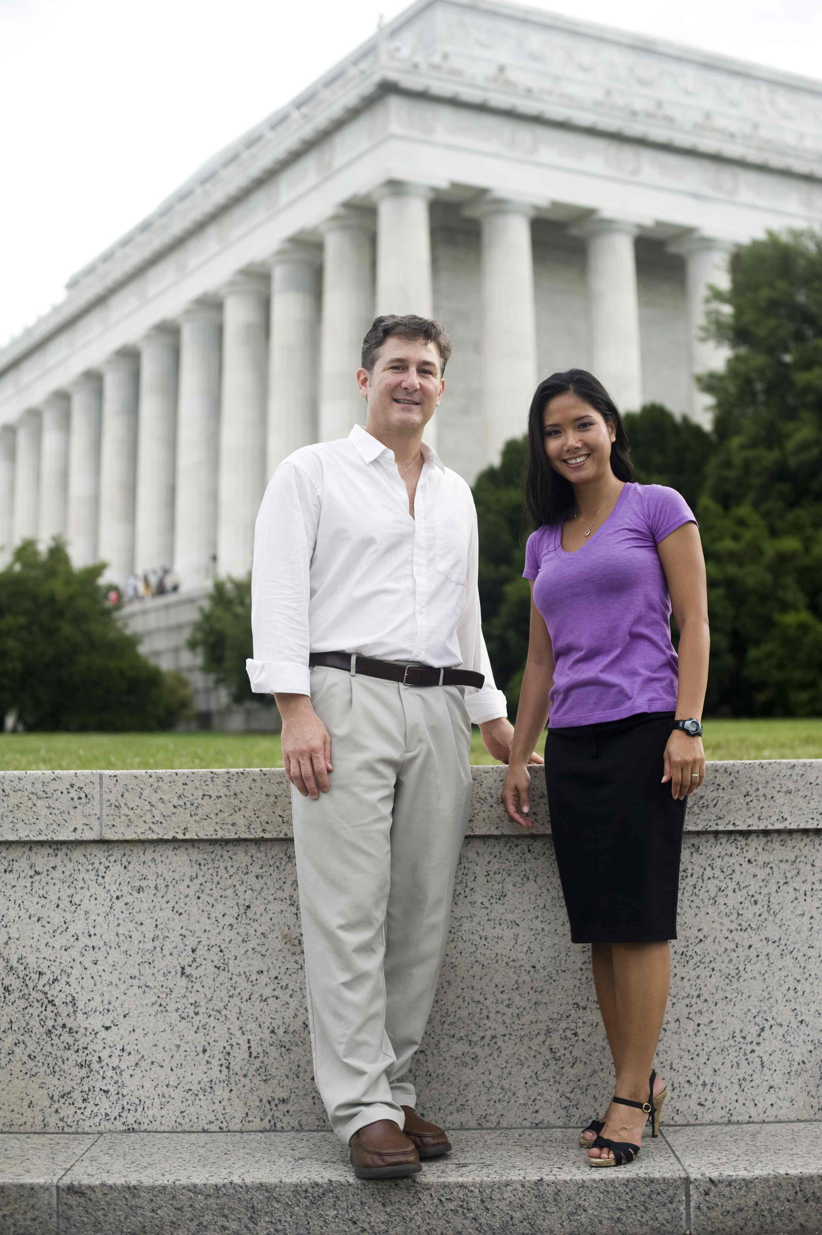 Savin Ven Johnson and her husband Wes Ven Johnson, also an LBJ graduate, in Washington, D.C.