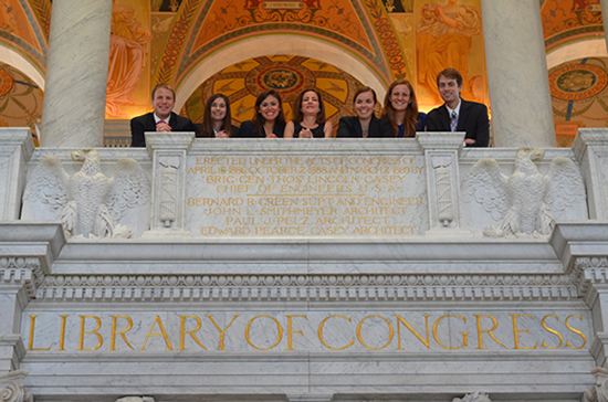Students at the Library of Congress.