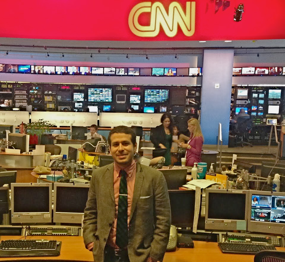 Danny in the CNN Newsroom