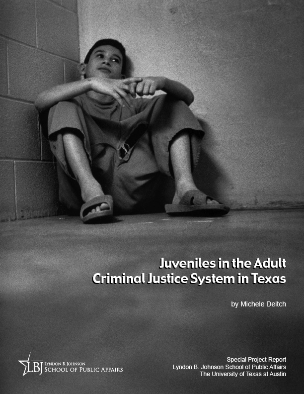 Juveniles in the Adult Criminal System in Texas report cover and link to download