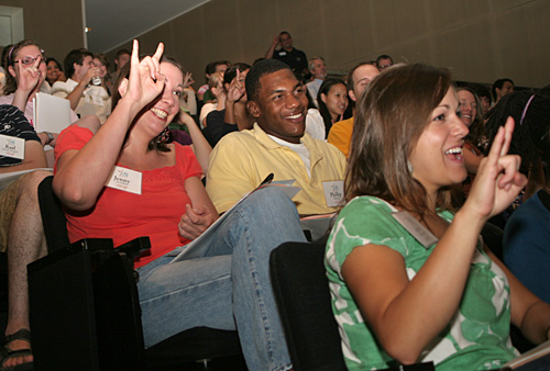 LBJ students in the Bass Lecture Hall