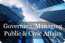 governing managing public and civic affairs