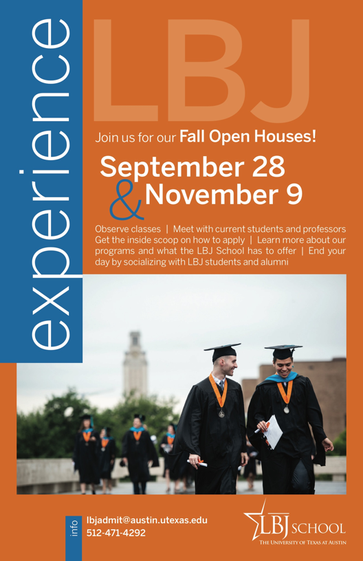 Experience LBJ: Open House promotional flyer