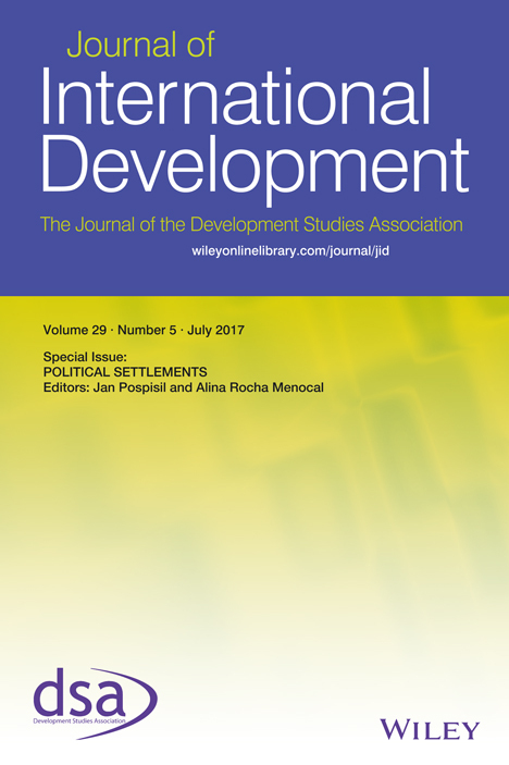 Journal of international development cover