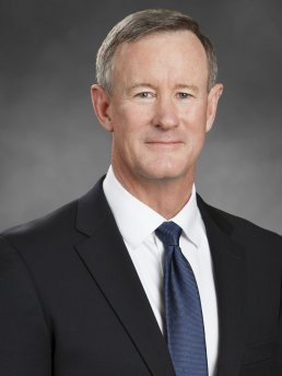 William McRaven Admiral, U.S. Navy retired man dark suit blue tie
