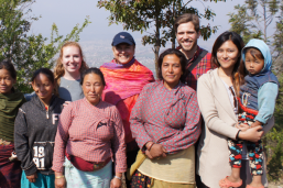 LBJ student Leah Havens (MGPS '18) in Nepal, where she was part of a group doing research on post-earthquake reconstruction