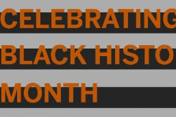 Celebrating Black History Month graphic