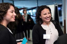 Alumni mingle at LBJ School awards reception