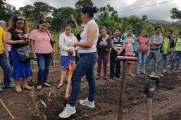 A worker with Artists for Soup, which works with Nicaraguan women