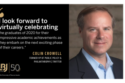 "Colin Crowell, former VP of global public policy and philanthropy at Twitter: ""I look forward to virtually celebrating the graduates of 2020."""