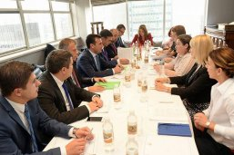 FDM meeting with Macedonia's Prime Minister, Foreign Minister, and Diaspora Minister at the sidelines of the UN General Assembly in New York City, September 2017