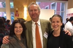 Dean Evans with LBJ School faculty Peter Ward and Raissa Fabregas during the APPAM Conference in Mexico City