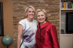 LBJ Student Katie Naranjo with former Secretary of State Hillary Clinton