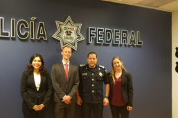LBJ student pictured with Mexican Federal Police