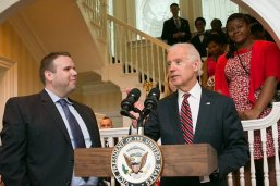 Alumnus Matthew Randazzo with then-Vice President Joe Biden
