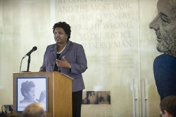 Stacey Abrams speaks at the 2012 Barbara Jordan National Forum