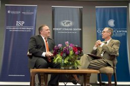 Michael Pompeo and Stephen Slick at the Texas National Security Forum