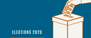 Elections 2020 person voting