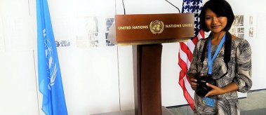 LBJ School alumna Amara Chhin at the United Nations