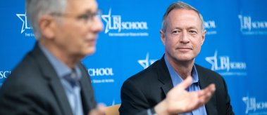 Mayor Goldsmith, Governor O'Malley and Professor Kettl at the LBJ School
